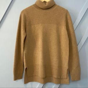 Halogen Cashmere relaxed fit turtleneck sweater